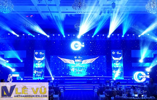 Amthanhsukien.com cung cấp hệ thống âm thanh ánh sáng cho chương trình tri ân hệ thống của mỹ phẩm CC White.