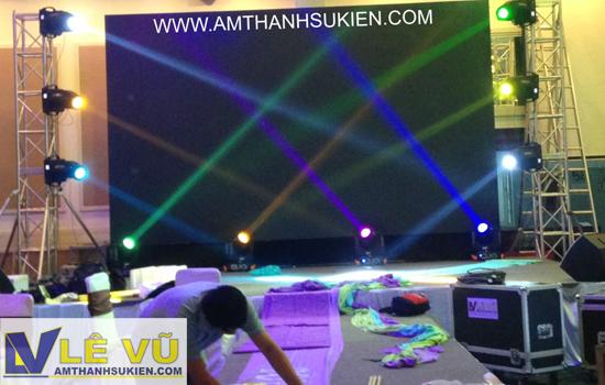 Cho thuê âm thanh ánh sáng chương trình 10 năm thành lập công ty dệt may Quế Hương