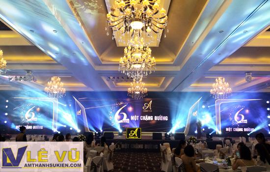 Cho thuê âm thanh ánh sáng chương trình 6 năm thành lập thương hiệu mỹ phẩm Acosmetics
