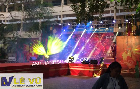 Cho thuê âm thanh ánh sáng chuyên nghiệp chương trình lễ hội mừng xuân mới trường THPT Nguyễn Công Trứ