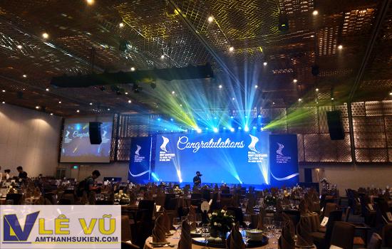 Cho thuê âm thanh ánh sáng lễ trao giải Doanh nghiệp có môi trường làm việc tốt nhất châu Á