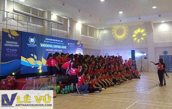 Cho thuê âm thanh ánh sáng, màn hình led, sân khấu lễ ra quân Vinschool Tân Cảng và THPT Nhân Việt