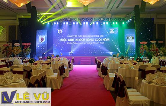 Cho thuê âm thanh ánh sáng, màn sao chương trình gặp mặt khách hàng công ty cổ phần Gạch men Phương Nam