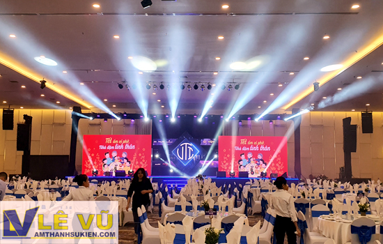 Cung cấp âm thanh ánh sáng chương trình Year End Party Tập đoàn Việt Thái - Hightland Coffee