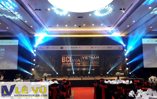 Cung cấp hệ thống âm thanh ánh sáng cho lễ trao giải BCI Asia Awards - Giải thưởng kiến trúc danh giá hàng đầu Đông Nam Á